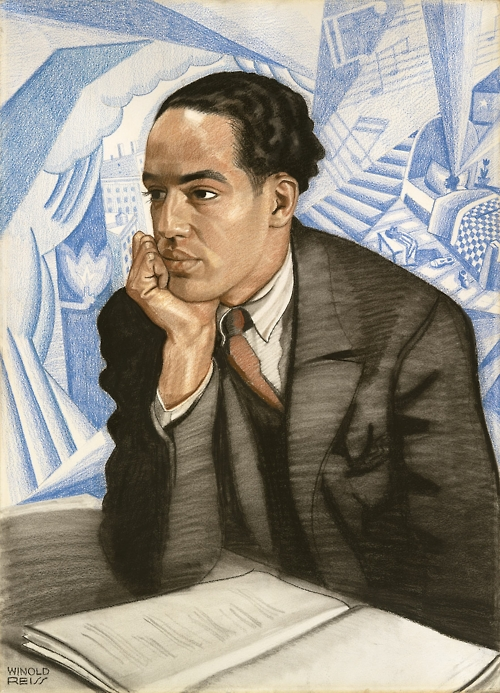 "Winold Reiss. ""Langston Hughes."" C. 1925"
