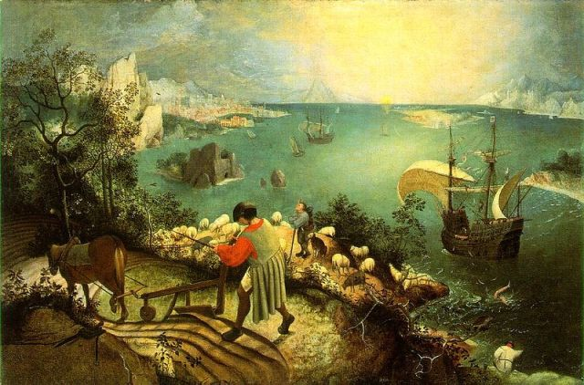 Landscape with the Fall of Icarus (Pieter Brueghel the Elder, circa 1558)