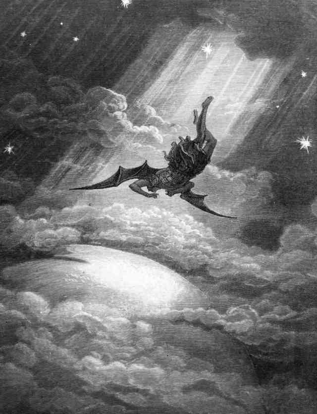 Gustave Dore's engraving from Milton's Paradise Lost, the Fallen Angel