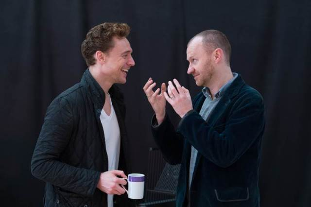 Hiddleston and Gatiss in rehearsal. Photo by Manuel Harlan