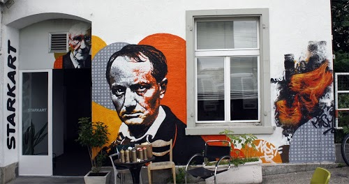 """Always be a poet, even in prose."" Charles Baudelaire Street art in Zurich, Switzerland, by ORTICANOODLES. Photo by ORTICANOODLES."