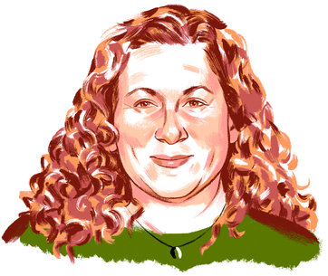 Jodi Picoult Illustration by Jillian Tamaki