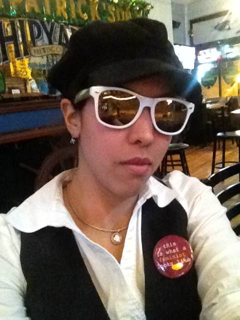 This is what this feminist looked like, back in that bar in 2013.
