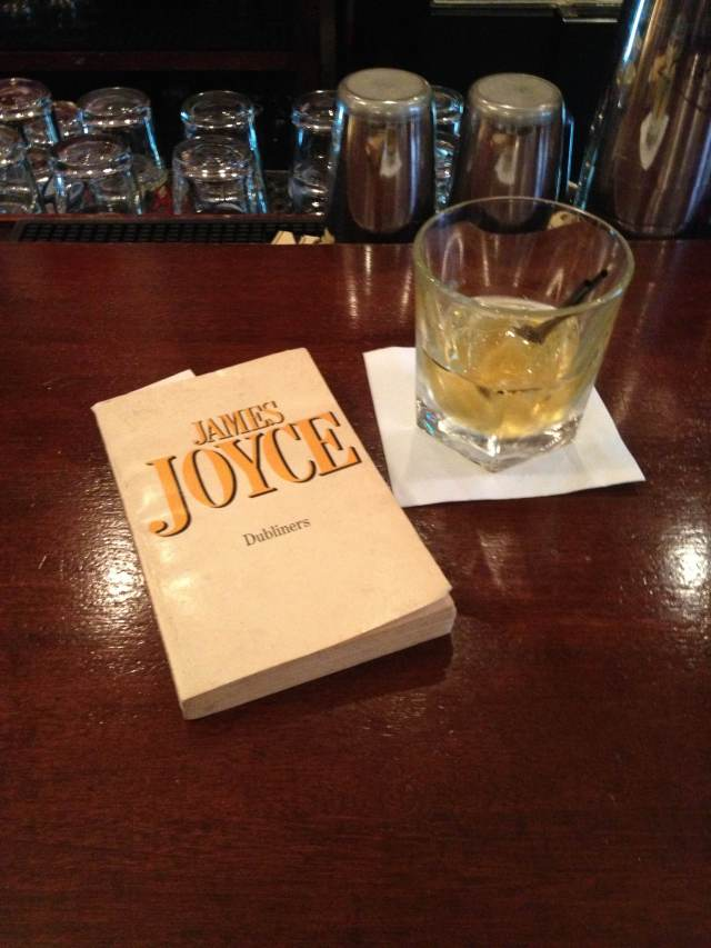 My celebration of Bloomsday last year: swapping my usual Dewar's for Jameson at Emmet's Pub, my fav Boston bar.